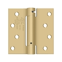 Deltana 4 1/2 x 4 1/2 Inch Square Corner Single Action, Steel Spring Hinge SOLD EACH