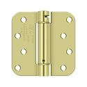 Deltana 4 x 4 Inch 5/8 Inch Radius Corner Single Action, Steel Spring Hinge - Each