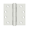 Deltana 4 x 4 Inch Square Corner Steel Heavy Duty Ball Bearing Hinge - Pair