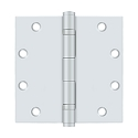 Deltana 5 x 5 Inch Square Corner Heavy Duty Ball Bearing Steel Hinge - Pair