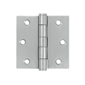 Deltana 3 x 3 Inch Stainless Steel Square Corner Standard Hinge - Pair