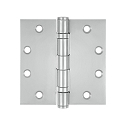Deltana 4 1/2 x 4 1/2 Inch Square Corner Ball Bearing Stainless Steel Hinge - Pair