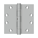 Deltana 4 1/2 x 4 1/2 Inch Square Corner NRP Ball Bearing Stainless Steel Hinge - Pair