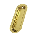 Deltana Solid Brass Oblong 3 1/2 x 1 1/4 x 5/16 Inch Flush Pull