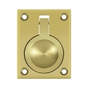 Deltana Solid Brass 2 1/2 x 1 7/8 Inch Flush Ring Pull