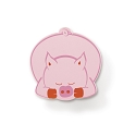 Century Dreamy Animals Acrylic Pig Knob in Pink