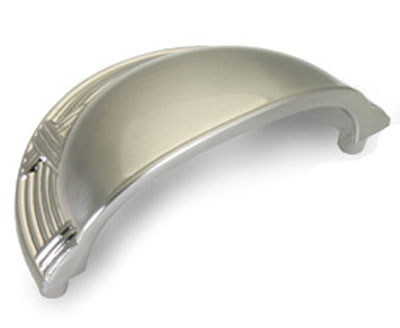 Dynasty Ribbon & Reed 3 Inch Bin Pull - Satin Nickel