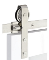 Emtek Classic Face Mount Barn Door Kit - Stainless Steel