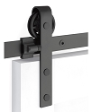 Emtek Classic Face Mount Barn Door Kit - Flat Black