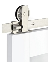 Emtek Modern Rectangular Top Mount Barn Door Kit - Stainless Steel