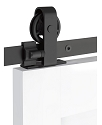 Emtek Classic Top Mount Barn Door Kit - Flat Black