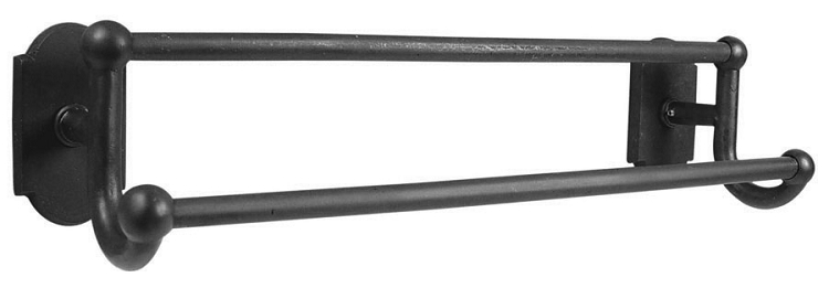 Emtek Sandcast  24 Inch Double Towel Bar