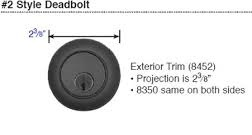Emtek Wrought Steel Style #2 Double Cylinder Deadbolt Measurements