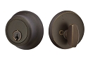 Emtek Sandcast Bronze Regular Style Single Cylinder Deadbolt