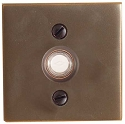 Emtek Brass Square Door Bell Cover