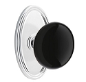 Emtek Ebony Knob with Oval Rosette