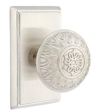 Emtek Lancaster Knob with Rectangular Rosette