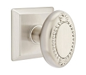 Emtek Oval Beaded Egg Knob with Quincy Rosette