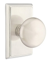 Emtek Providence Knob with Rectangular Rosette