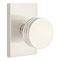 Emtek Bern Modern Door Knob with Modern Rectangular Rosette