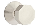 Emtek Octagon Modern Door Knob with Modern Rosette