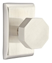 Emtek Octagon Modern Door Knob with Neos Rosette