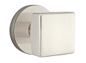 Emtek Square Modern Door Knob with Disk Rosette