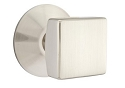 Emtek Square Modern Door Knob with Modern Rosette