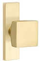 Emtek Square Modern Door Knob with 1.5 Inch x 5 Inch Stretto Rosette