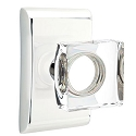 Emtek Square Crystal Knob with Neos Rosette