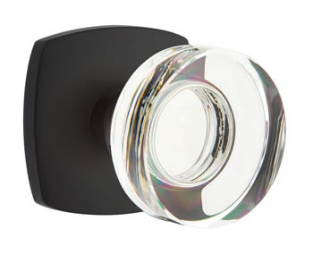 Emtek Disc Crystal Knob with Urban Modern Rosette