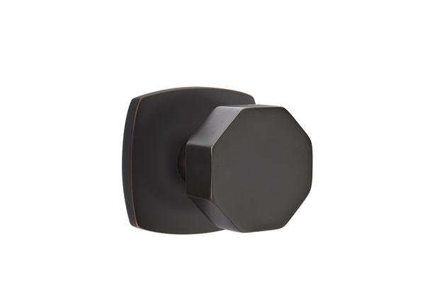 Emtek Octagon Modern Door Knob with Urban Modern Rosette