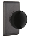 Emtek Madison Black Knob with Style 3 Rosette