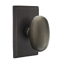 Emtek Sandcast Bronze Egg Door Knob with Style 3 Rosette