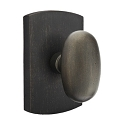 Emtek Sandcast Bronze Egg Door Knob with Style 4 Rosette