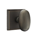 Emtek Sandcast Bronze Egg Door Knob with Style 6 Rosette