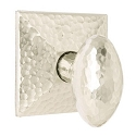 Emtek Hammered Egg Door Knob with Hammered Rosette