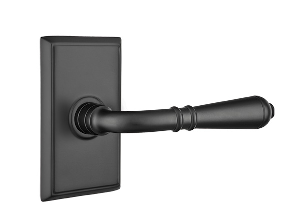 Emtek Turino Door Lever With Rectangular Rosette Direct