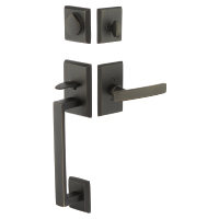 Emtek Rustic Modern Rectangular Sectional Entrance Handleset