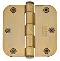 Emtek 3.5 Inch Steel Heavy Duty Door Hinges with 5/8 Inch Round Corners  (pair)