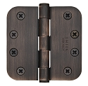 Emtek 4 Inch Steel Heavy Duty Door Hinges with 5/8 Inch Round Corners  (pair)