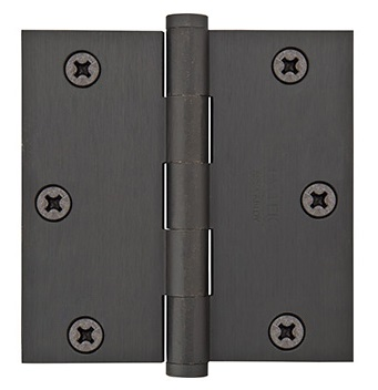 Emtek 3.5 Inch Solid Brass Heavy Duty Door Hinges with Square Corners  (pair)