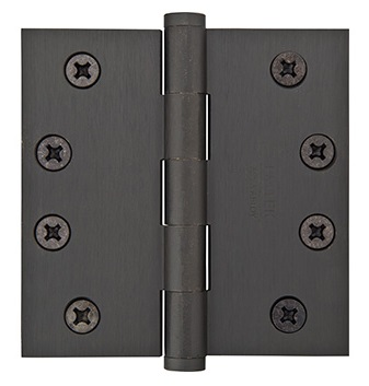 Emtek 4 Inch Solid Brass Heavy Duty Door Hinges with Square Corners  (pair)