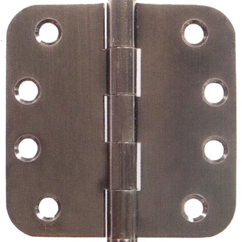 Emtek 4 Inch Solid Brass Residential Duty Door Hinges with 5/8 Inch Round Corners  (pair)