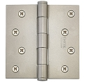 Emtek 4 Inch Residential Duty Door Hinges with Square Corners -Steel (pair)