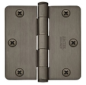 Emtek 3.5 Inch Heavy Duty Door Hinges with 1/4 Inch Round Corners  (pair)