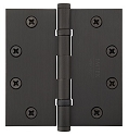 Emtek 4.5 Inch Steel Ball Bearing Door Hinges with Square Corners  (pair)