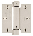 Emtek 3 1/2 Inch Steel Spring Door Hinges with Square Corners  (pair)