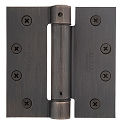 Emtek 4 Inch Steel Spring Door Hinges with Square Corners  (pair)