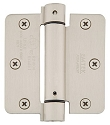 Emtek 3 1/2 Inch Steel Spring Door Hinges with 1/4 Inch Round Corners  (pair)